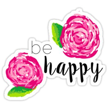 Be Happy Lilly Pulitzer Roses by Emilyn Frohn