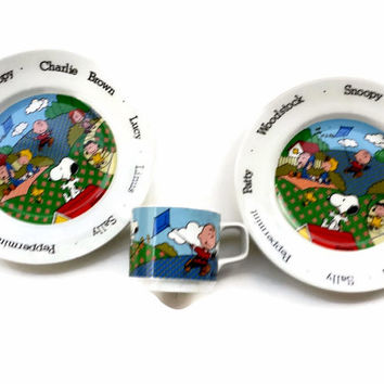 Peanuts Snoopy Dishes Mug Set Johnson Bros England