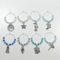 Wine Charms - Beach Theme, Swarovski