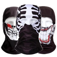 Red Tongue Red Mouth Full Masks Skull Balaclava Outdoor Helloween Skiing Cycling Beanies Airsoft Military Tactical Game Hats