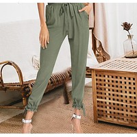 Diem High-Waisted Sash Trousers