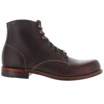 CREYONIG Wolverine 6' 1000 Mile - Brown Leather Lace-Up Boot