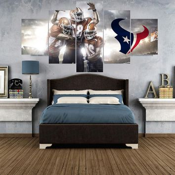 Sport Ball Logo Paintings Houston Texans Modern Home Decor Living Room Bedroom Wall Art Canvas Print Painting Calligraphy