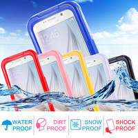 Transparent Waterproof Swim Surfing Diving Universal Sports Case for Samsung Galaxy S3 S4 S5 Case Clear Cover Hard PC + Soft TPU
