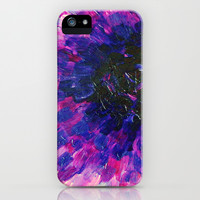 VACANCY - LIMITLESS Bold Eggplant Plum Purple Abstract Acrylic Painting Floral Macro Colorful Void iPhone & iPod Case by EbiEmporium