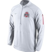 Nike Men's Ohio State Buckeyes White Championship Drive Hybrid Football Performance Jacket