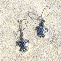 Baby Sea Turtle Honu Earrings Dangling