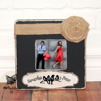 Engagement Gift Personalized Picture Frame Engagement Present Romantic Gift for Her Gift for Him Anniversary Gift Boyfriend Gift Girlfriend