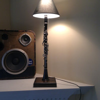 Upcycled clarinet lamp