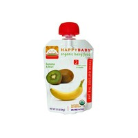 Happy Baby Organic Baby Food Stage 2 Banana and Kiwi 3.5 oz Case of