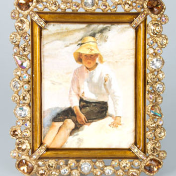 Jay Strongwater Claudia Bejeweled 3 x 4 Frame