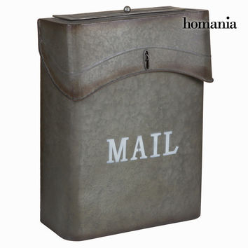 Gray metal mailbox mail - Art & Metal Collection by Homania