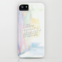 STRENGTH IN WEAKNESS iPhone & iPod Case by Pocket Fuel