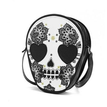 Sugar Skull small handbag purse