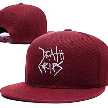 ZZZB Death Grips Logo Adjustable Snapback Embroidery Hats Caps - Red