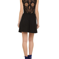 Black Skull Back Applique Dress | Hot Topic