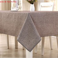 Hot Sale High Quality Solid Color Tablecloth Linen Tablecloths Beautiful Party Table Cloth Cover Cloth Sofa Cover Cloth