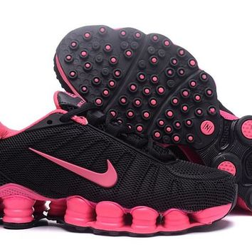 Women's Nike Shox TLX Running Shoes Black/Pink