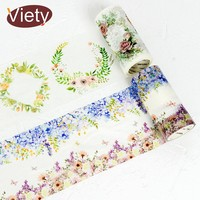 9cm*5m Beautiful plants wreath flowers washi tape diy decoration for scrapbooking masking tape adhesive tape kawaii stationery