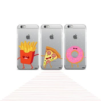 Squad Case Set (Fries, Pizza, Donut) - Clear Case Cover