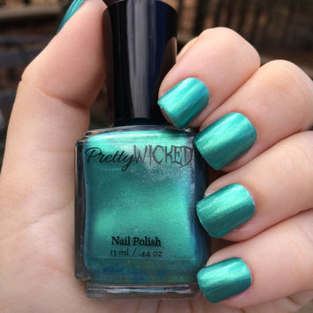 Greenish Blue Nail polish, Green Nail Polish, Blue Nail Polish, Metallic Nail Polish