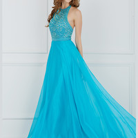 Angela & Alison 61009 Beaded Bodice Formal Prom Gown