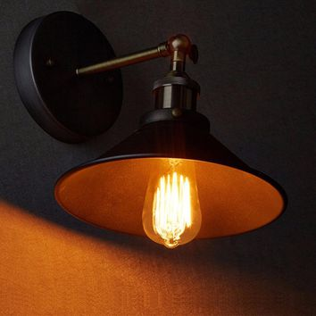 Vintage Plated Industrial Wall Lamp Retro Loft LED Wall Light Lamparas De Pared Stair Bathroom Iron Wall Sconce Fixture