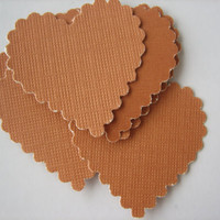 20PCS - Scrapbooking, Jewelry Design, Collage, Cardmaking and Crafting - 3cm - Hearts - Pumpkin