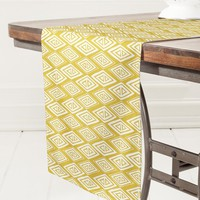 Heather Dutton Diamond In The Rough Gold Table Runner