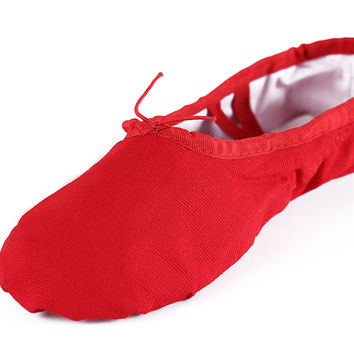 Brand New Breahtable  Canvas Ballet  Dance Shoes Gym Yoga Practice  Spile Sole Ballerina Ballet Shoes For Girls/Women/Ladies
