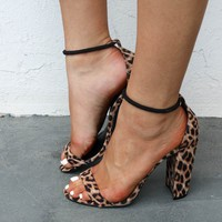 The Cat's Meow Leopard Print Block Heel