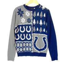 NFL Licensed Indianapolis Colts Busy Block Ugly Christmas Sweater