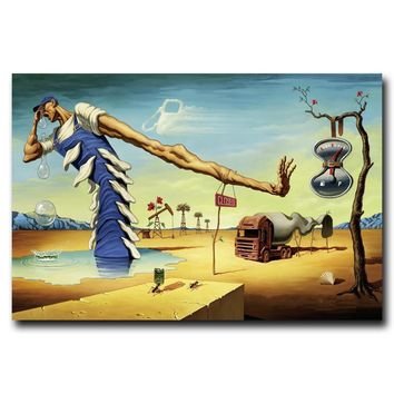 Surreal Abstract Painting by Salvador Dali Poster Art