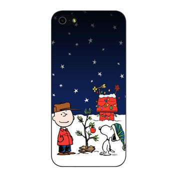 Charlie Brown Christmas Peanuts 001 iPhone 5/5S/SE Case