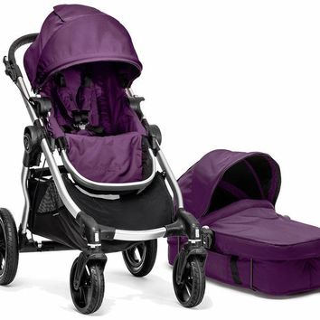 Baby Jogger City Select Stroller Amethyst with Bassinet Pram System Travel 2017