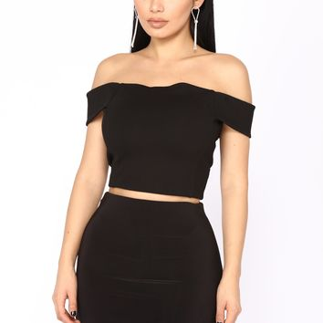 When I Need You Top - Black