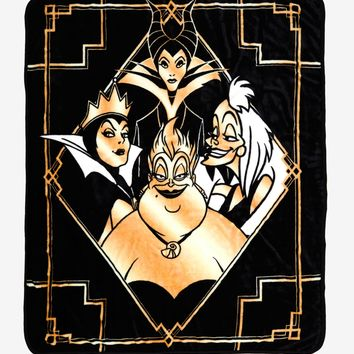 Disney Villains Golden Throw Blanket