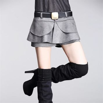 PU Leather Skorts