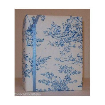 Blue Cherub Central Park Toile fabric  by toilechicboutique