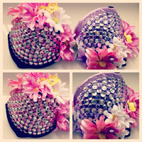 Dazzling Daisy rave bra by WanderlustCouture on Etsy