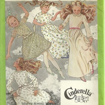 Cindrerella Girl's Dress Simplicity 9352 Size14 Vintage Pattern