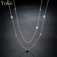YoGe P1179Y Luxury multicolour crystal stones necklace,women's fashion colourful long sweater chain dress party accessories-in Chain Necklaces from Jewelry & Accessories on Aliexpress.com | Alibaba Group