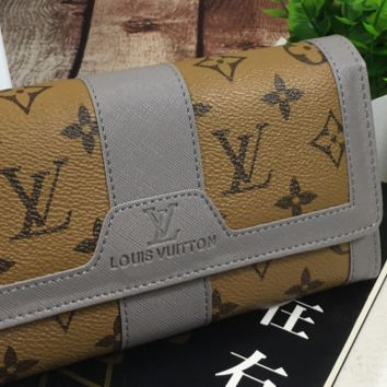 LV fashion leather long wallet[380339421220]