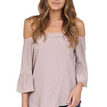 Mauve Off The Shoulder Top at Blush Boutique Miami - ShopBlush.com : Blush Boutique Miami – ShopBlush.com