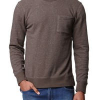 On The Byas Brad Texture Crew Fleece - Mens Hoodies - Brown