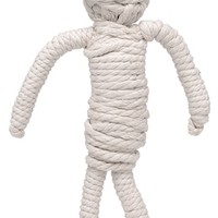 The Mummy Halloween Rope Dog Toy at barker & meowsky a paw firm since 1998 carries dog clothes, dog accessories, dog carriers, dog collars, dog toys, dog beds and dog treats