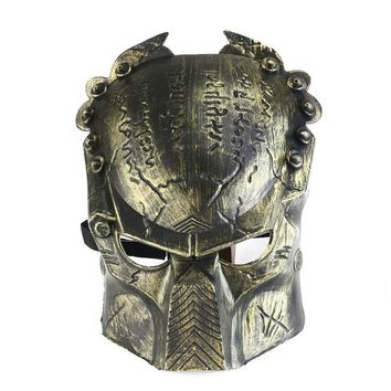 Cool Lifelike Alien Soldier Shaped Hockey Cosplay Costume Halloween Killer Masquerade Ball Mask Scary Mask Anonymou Masks