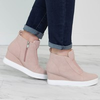 Zoey Blush Sneaker Wedge