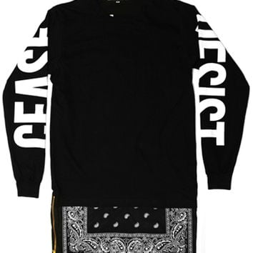 Cease & Desist - Black Long Sleeve Extendo - Cease & Desist, T-Shirts, T-Shirts - KNYEW Clothing Boutique