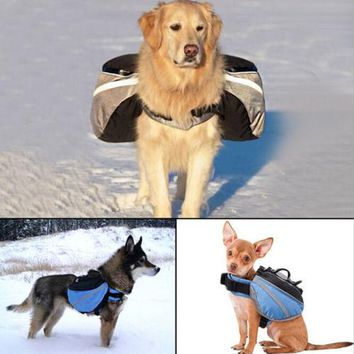 Dog Outward Hound Saddle Bags Dog Backpacks for Hiking or Camping Blue colour